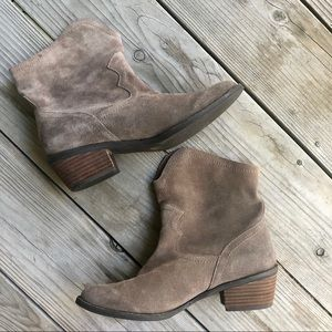 Naughty Monkey Tan Soft Suede Booties - Size 8